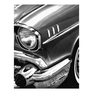 1957 Chevrolet Bel Air Black & White Letterhead