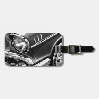 1957 Chevrolet Bel Air Black & White Luggage Tag