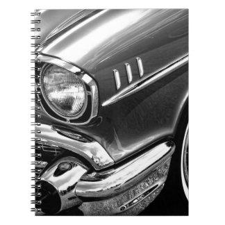 1957 Chevrolet Bel Air Black & White Notebook