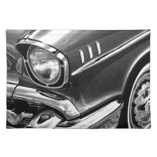 1957 Chevrolet Bel Air Black & White Placemat