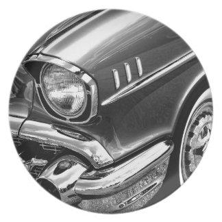 1957 Chevrolet Bel Air Black & White Plate