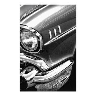 1957 Chevrolet Bel Air Black & White Stationery