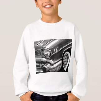 1957 Chevrolet Bel Air Black & White Sweatshirt