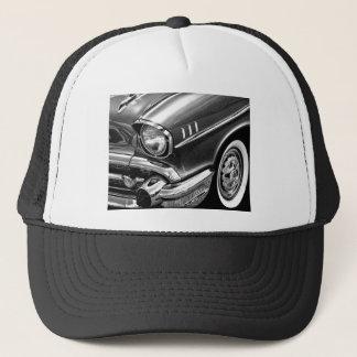 1957 Chevrolet Bel Air Black & White Trucker Hat