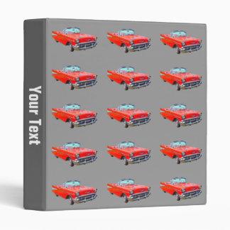 1957 Chevrolet Bel Air Convertible Antique Car Vinyl Binders