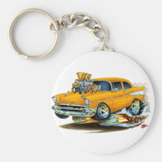 1957 Chevy 150-210 Orange Car Keychain