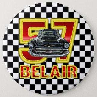 1957 Chevy Bel Air Button. 6 Inch Round Button