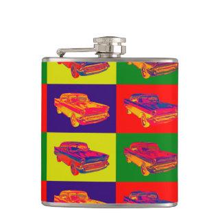 1957 Chevy Bel Air Car Pop Art Hip Flask