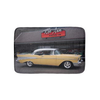 1957 Chevy Bel Air Chevrolet Classic Car Drive In Bath Mat