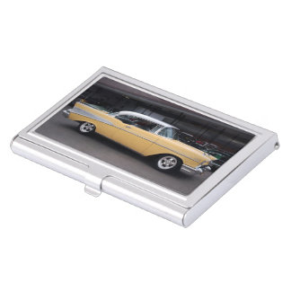 1957 Chevy Bel Air Chevrolet Classic Car Drive In Business Card Holder