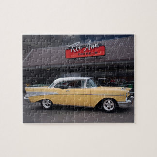 1957 Chevy Bel Air Chevrolet Classic Car Drive In Jigsaw Puzzle