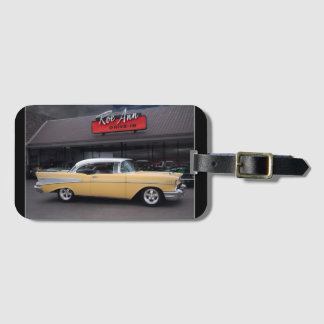 1957 Chevy Bel Air Chevrolet Classic Car Drive In Luggage Tag