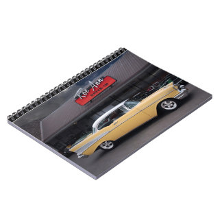 1957 Chevy Bel Air Chevrolet Classic Car Drive In Notebook