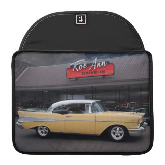 1957 Chevy Bel Air Chevrolet Classic Car Drive In Sleeve For MacBooks