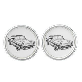 1957 Chevy Bel Air Classic Car Illustration Cufflinks