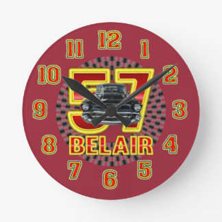 1957 Chevy Bel Air Clock. Round Clock