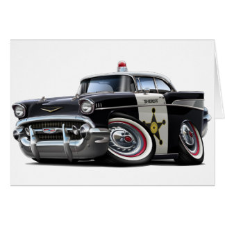1957 Chevy Belair Police Car Card
