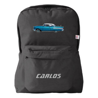 1957 Chevy Belaire classic car custom backpack