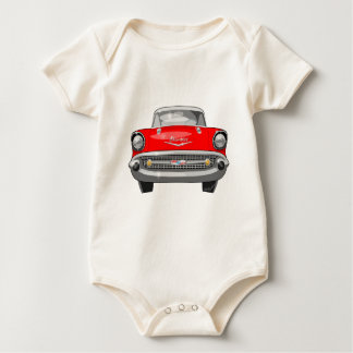 1957 Chevy Front View Baby Bodysuit