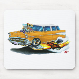1957 Chevy Nomad Orange Car Mouse Pad