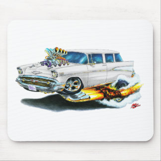 1957 Chevy Nomad White Car Mouse Pad