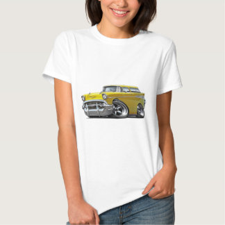 1957 Chevy Nomad Yellow Hot Rod Tshirt