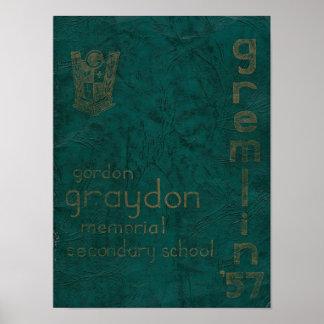 1957 Gremlin Yearbook Poster