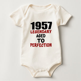 1957 LEGENDARY AGED TO PERFECTION BABY BODYSUIT