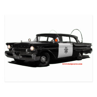 1957-mercury-monterey-highway-patrol-car postcard