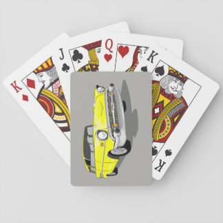 1957 Nomad Playing Cards in Yellow