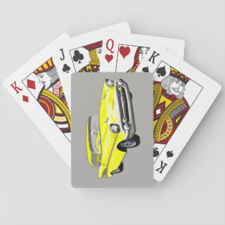 1957 Shoebox Playing Cards in Yellow