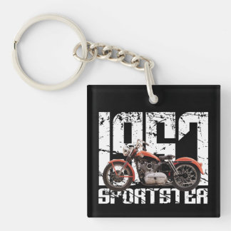 1957 Sportster Double-Sided Square Acrylic Keychain