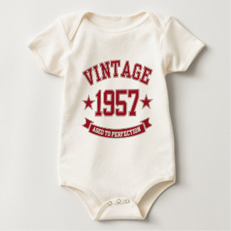 1957 Vintage Aged to Perfection Baby Bodysuit