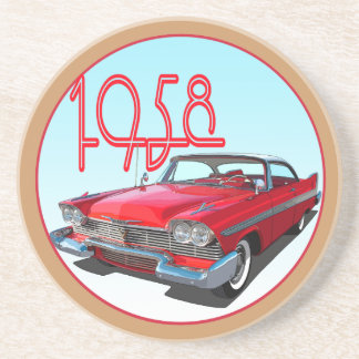 1958 Belvedere Sport Coupe Drink Coasters