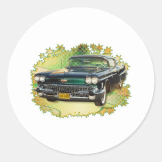 1958 CADILLAC #2 ROUND STICKER