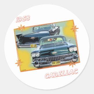 1958 CADILLAC 3 ROUND STICKER