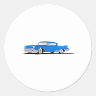 1958 Cadillac El Dorado Round Sticker