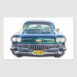 1958 Cadillac Rectangle Sticker