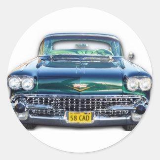1958 CADILLAC ROUND STICKER