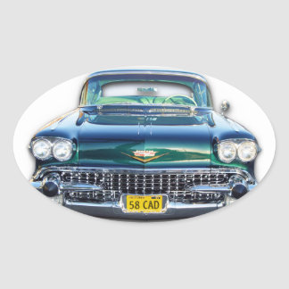 1958 Cadillac Oval Stickers
