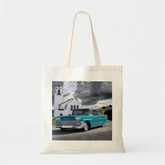 1958 Chevy Bel Air Belair Chevrolet Classic Car Tote Bag