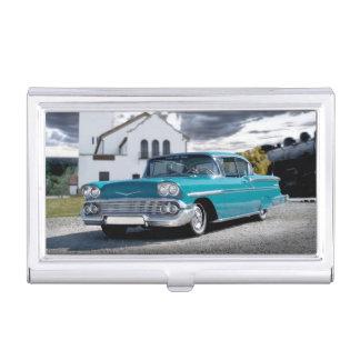 1958 Chevy Bel Air Classic Car Train Depot Business Card Holder