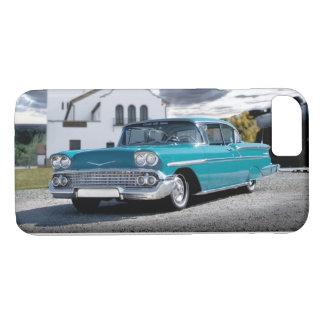 1958 Chevy Bel Air Classic Car Train Depot iPhone 8/7 Case