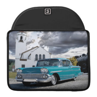 1958 Chevy Bel Air Classic Car Train Depot Sleeve For MacBooks