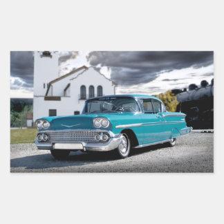 1958 Chevy Bel Air Classic Car Train Depot Sticker
