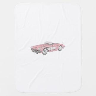 1958 Chevy Corvette Baby Blanket