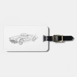 1958 Chevy Corvette Luggage Tag