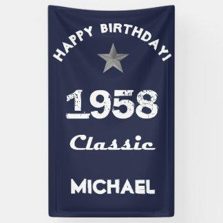 1958 Classic 60th Birthday Celebration Banner