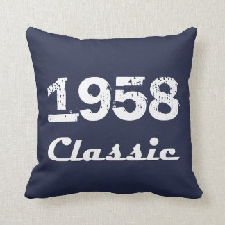 1958 Classic 60th Birthday Celebration Throw Pillow