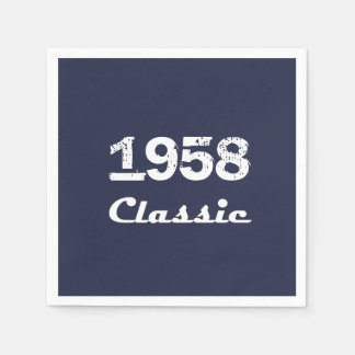 1958 Classic 60th Birthday Party Celebration Paper Napkin